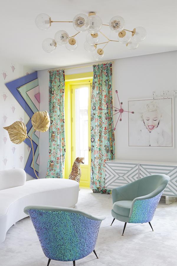 decoración Pop, redecorar casa, decorar con colores vividos.