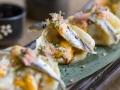 10 Lamian by Soy Kitchen Empanadillas al vapor tres delicias boqueron y nori