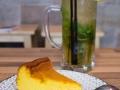 06 Okashi Sanda Tarta Calabaza textura Cheescake y Mojito de Sake