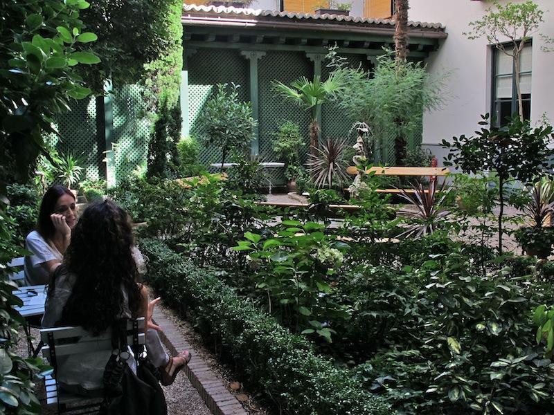 el jard n del museo caf del museo del romanticismo