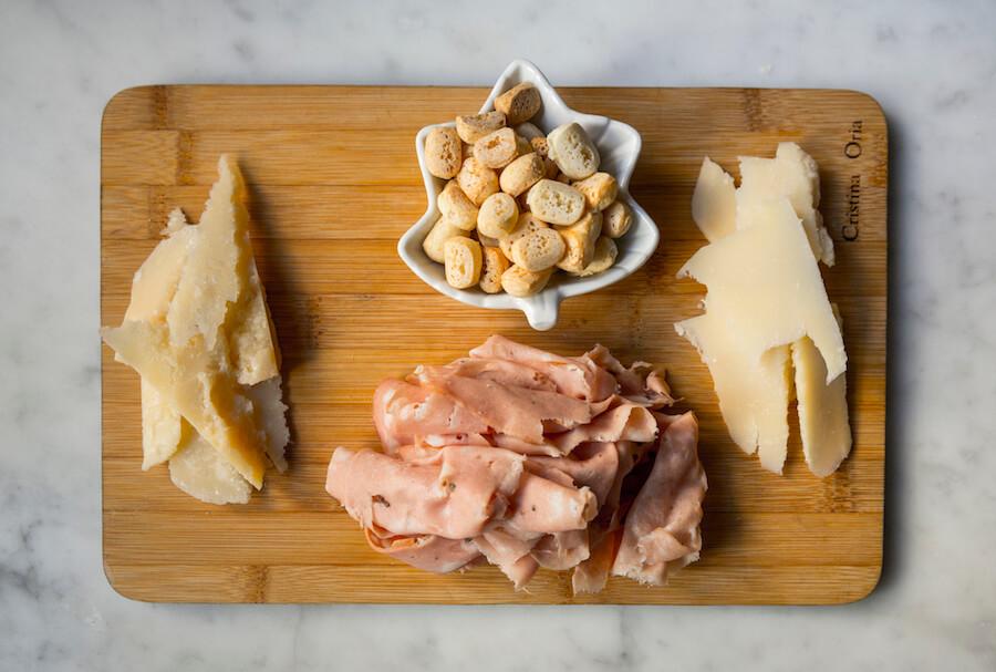 CRISTINA ORIA Mortadela trufada con parmesano