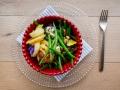 ELEKTRA Ensalada templada de judias verdes de Kenia con queso y nueces pecanas