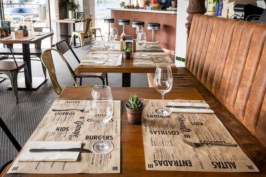 GARAJE GRILL restaurante de comida americana en el barrio Salamanca
