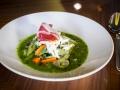LA PRIMERA Menestra de verduras semiguisadas con jamon y su jugo