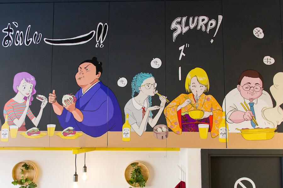 Peko Peko Mural de Nat Tali
