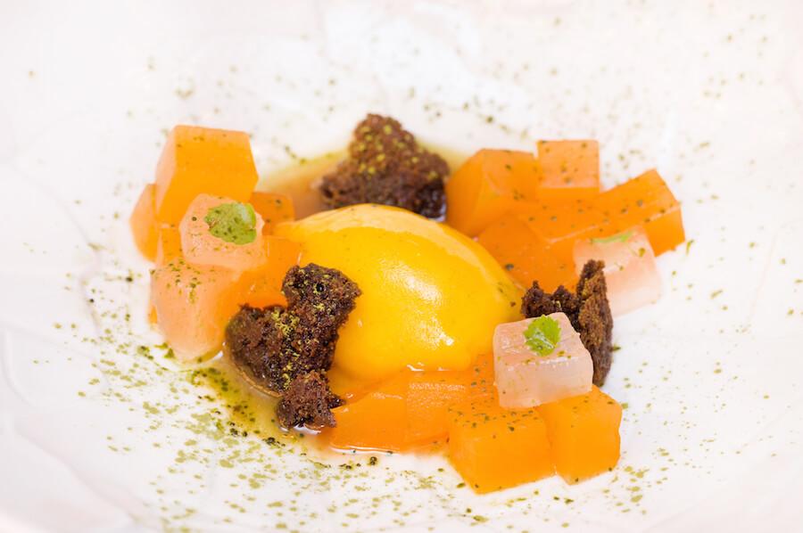 ONLY YOU Atocha Terraza Esferas de melon de amas, aloe vera en almibar y helado de mango bio