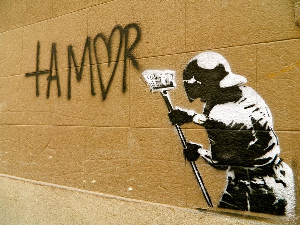 Arte Urbano en la calle Monserrat. Madrid