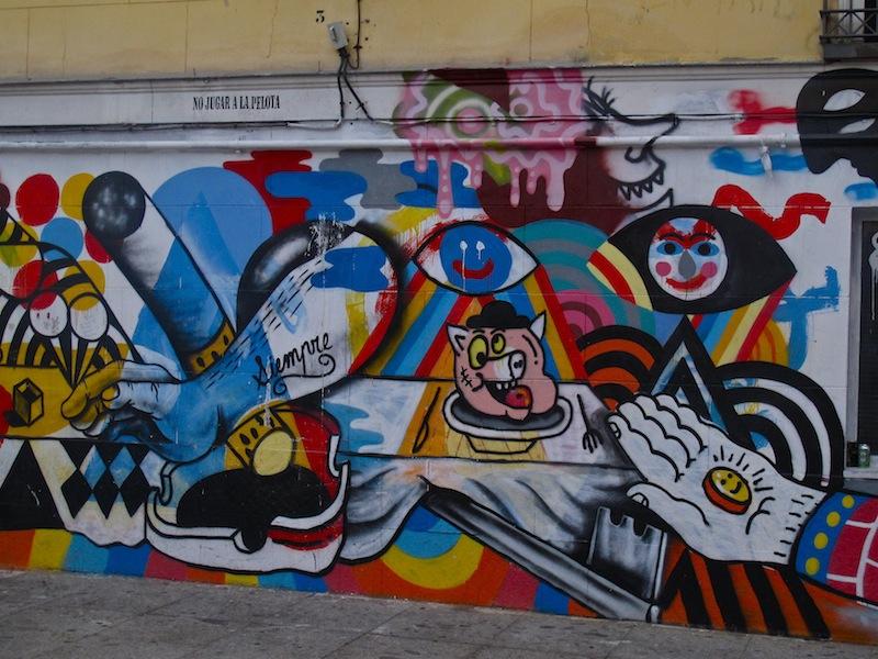 Arte urbano en la Plaza de Juan Pujol