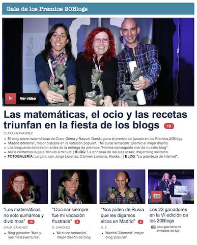 Madrid Diferente ganador Premios 20Blogs