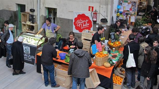Mercado La Buena Vida en Hub Madrid