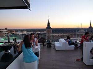 La terraza del Mercado de Moncloa en el hotel Exe