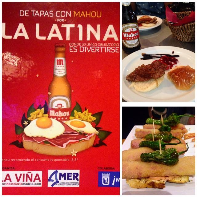 Pasamos de pasarelas y nos vemos de tapas con @mahou_es por #LaLatina con @Gastromaniac  @conelmorrofino @otiummadrid y @megustamibarrio. Que mejor plan??!!