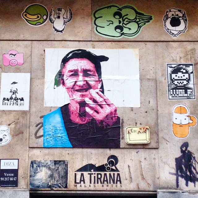 #pasteups #stickers #malasaña #madrid @porfavorhh