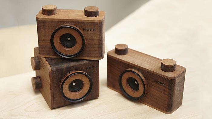 NOPO cámaras estenopeicas de madera