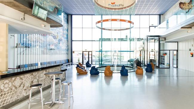 Madrid Fly cafeteria restaurante y camara de vuelo