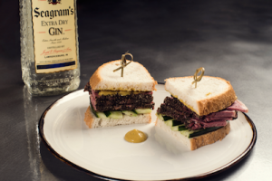 Seagram's New York Rooftop at Casa Suecia Sandwich pastrami