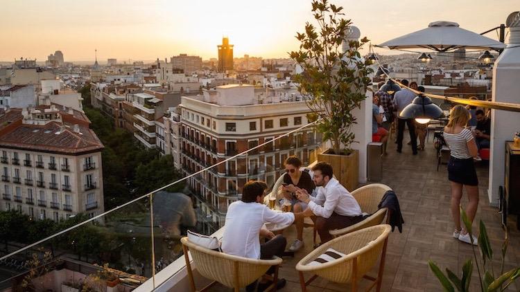 TERRAZA H10 Gran panoramica de Madrid