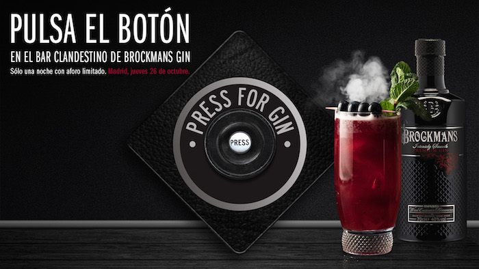 Brockmans 'press for gin', para el hedonismo y la clandestinidad