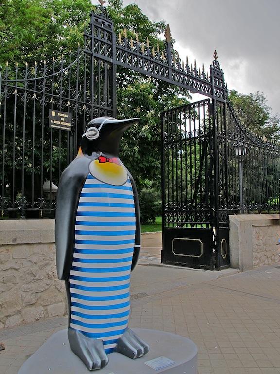 Pingüinos de Faunia, en Madrid.