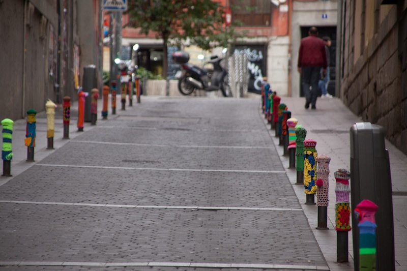 Urban knitting en Madrid