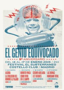 Cartel del Festival El Subterráneo - El Genio Equivocado