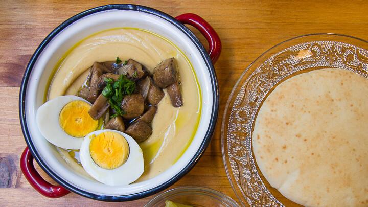 LA HUMMUSERIA Hummus champiñon