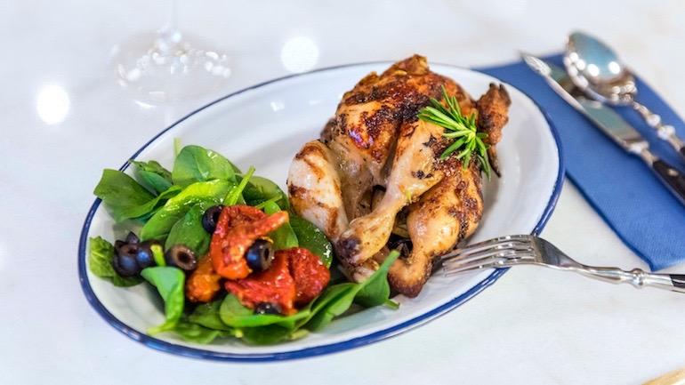 Rotisserie pollo asado