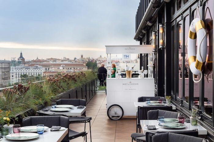 S ptima restaurante y cocteler a en la terraza del hotel - Hotel only you en madrid ...