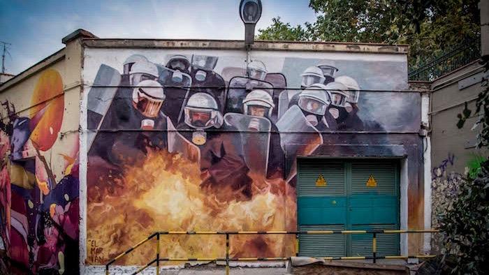Mural de El Marian en Tabacalera - Hybrid 2017