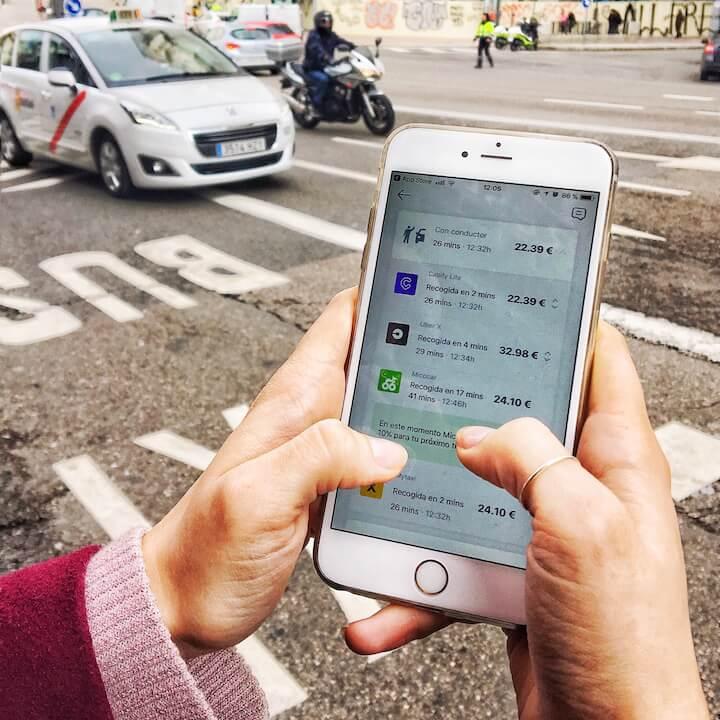 Chipi App, aplicación para comparar medios de transporte en Madrid