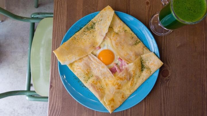 LORANGERIE Bar Creperie Crepe Cactus de queso beicon y huevo
