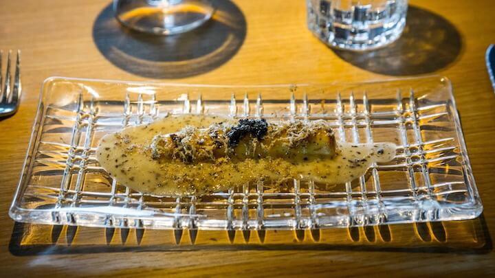 EFIMERO Puerro braseado, menier trufada y caviar B