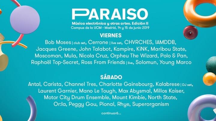 Festival Paraiso 2019 junio