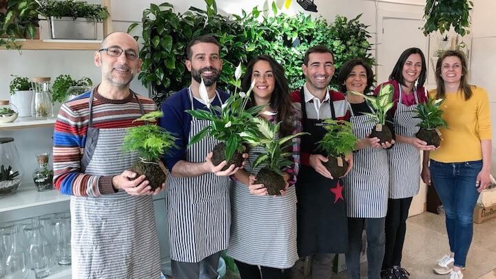 GREENWORKS Taller de Kokedamas grupo