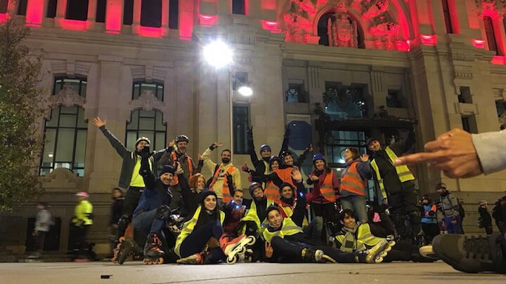 Madrid Friday Skate Night, paseo nocturno en patines por Madrid
