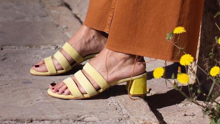 Lemon Rouge, sandalias artesanas 100% piel