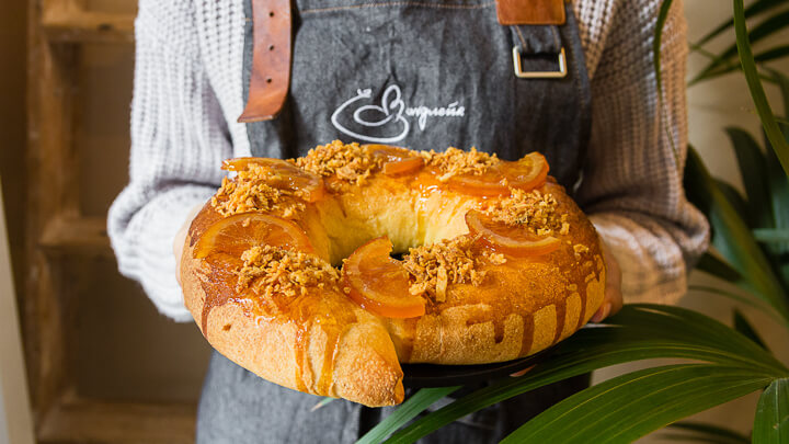 Roscón de Reyes relleno de morcilla de Beasain