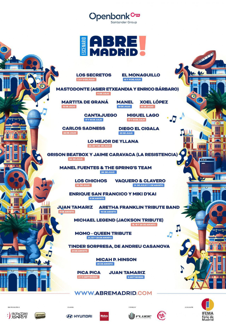 Abre Madrid shows al aire libre