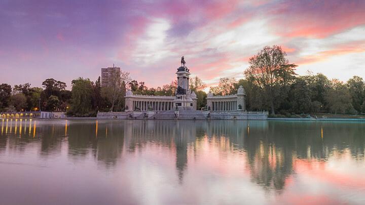 Retiro Madrid estanque