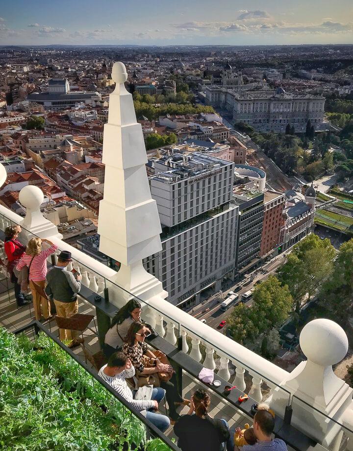 Terraza RIU HOTEL vista Palacio Real