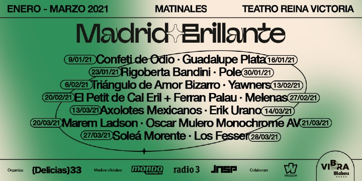 Cartel ciclo conciertos Madrid Brillante en el Teatro Reina Victoria