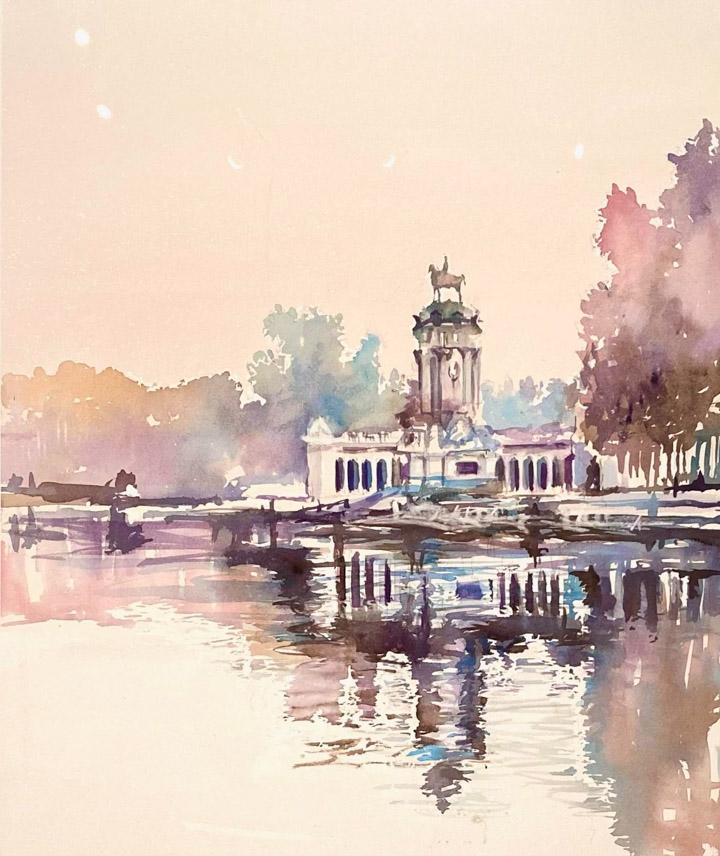 Conoce el Madrid en colores pastel de Beatriz de Bartolomé
