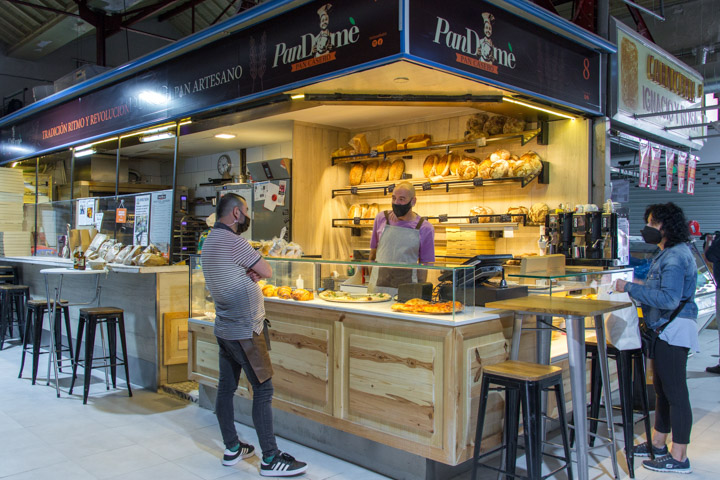 PANDOME Pizza puesto Mercado Tirso de Molina