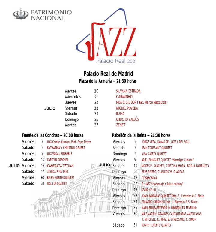 Julio inunda de jazz los jardines del Palacio Real